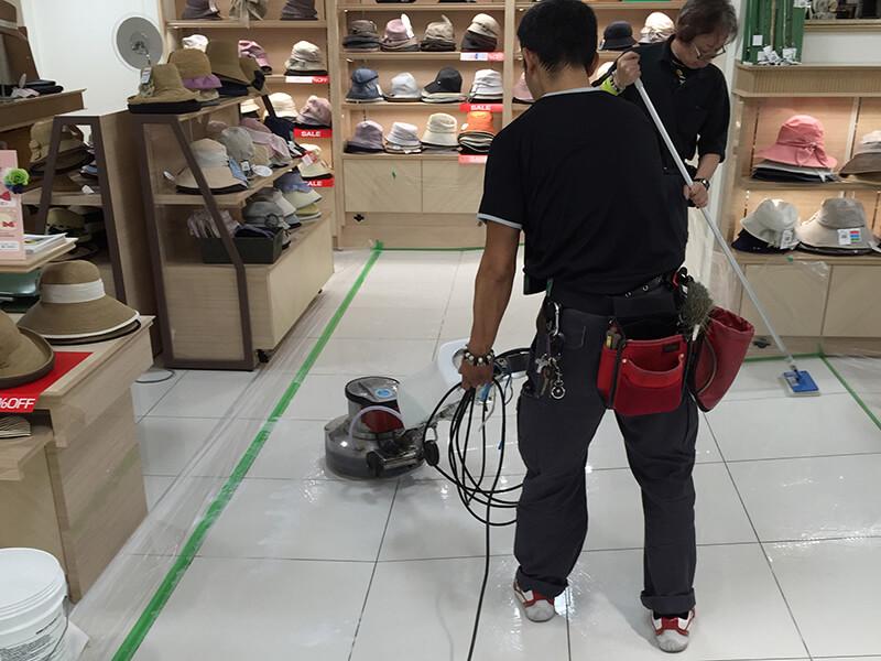 デパートの滑り止め施工